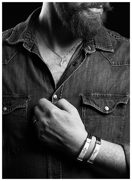 Icelandic male model with jewelry