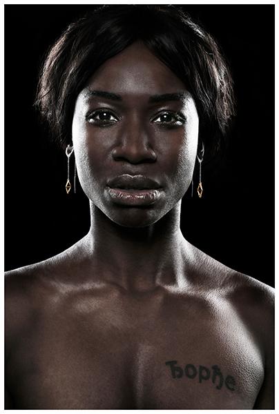 Dark skinned model with jewelry