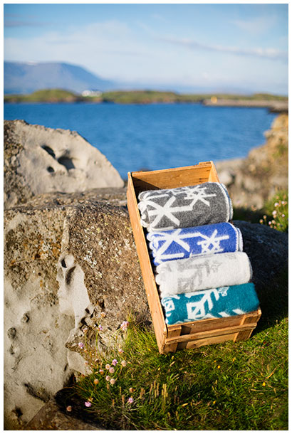 Four Alrun blankets in Icelandic nature