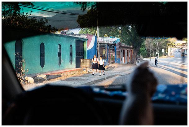 Children going to school in Honduras