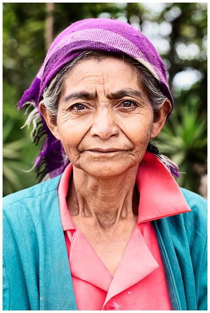 Portrait of an Honduran elderly woman