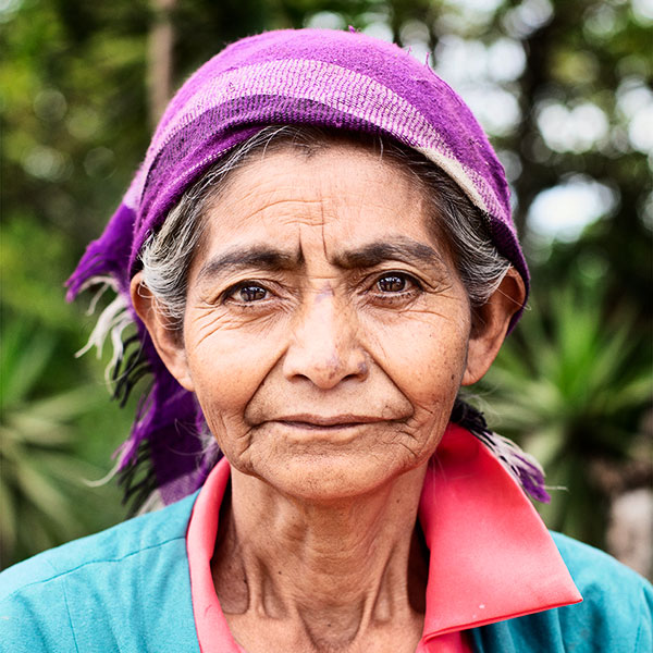 Portrait of an Honduran elderly woman