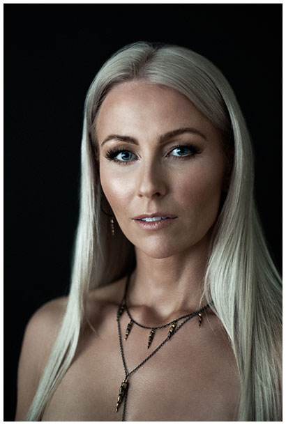 Icelandic blonde model with jewelry